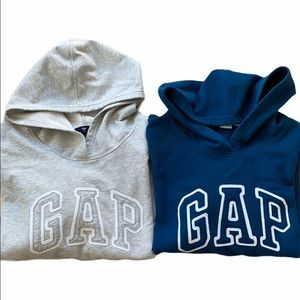 GAP Logo Hoodie Bundle Grey And Blue Size S